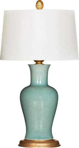 Amelie Verde Couture Table Lamp - Benton and Buckley