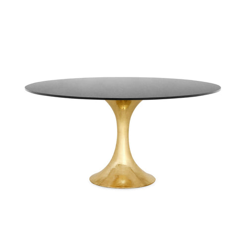 Stockholm Brass Dining Table with Black Granite Top - Benton and Buckley