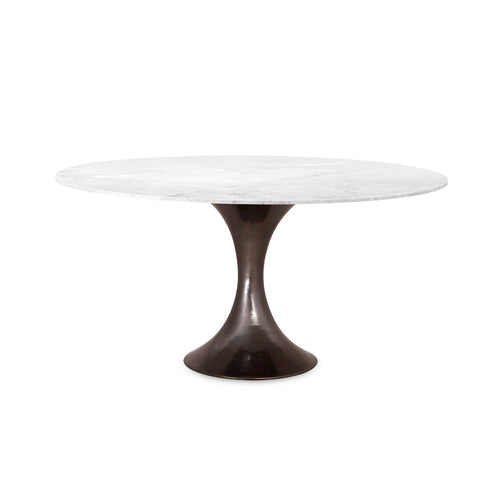 Stockholm Bronze Dining Table with Carrera Marble Top - Benton and Buckley