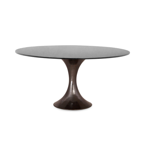 Stockholm Bronze Dining Table with Black Granite Top - Benton and Buckley