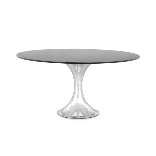 Stockholm Nickel Dining Table with Black Granite Top - Benton and Buckley