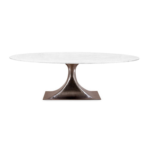 Stockholm Bronze Oval Dining Table with 95