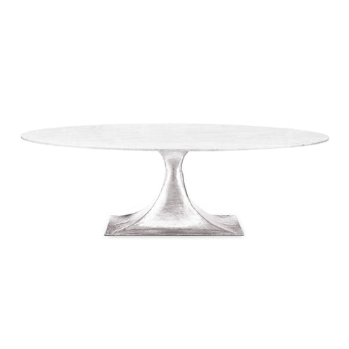 Stockholm Nickel Oval Dining Table with 95