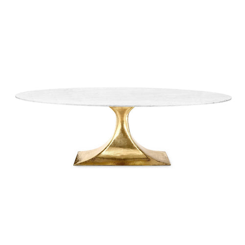 Stockholm Brass Oval Dining Table with 95
