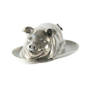 Pewter Pig Butter Dish - Benton and Buckley
