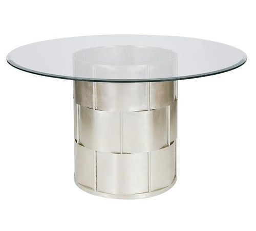 Amanda Silver 54 Inch Round Dining Table - GDH | The decorators department Store