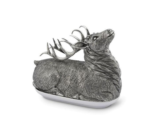 Pewter Stag Butter Dish - Benton and Buckley