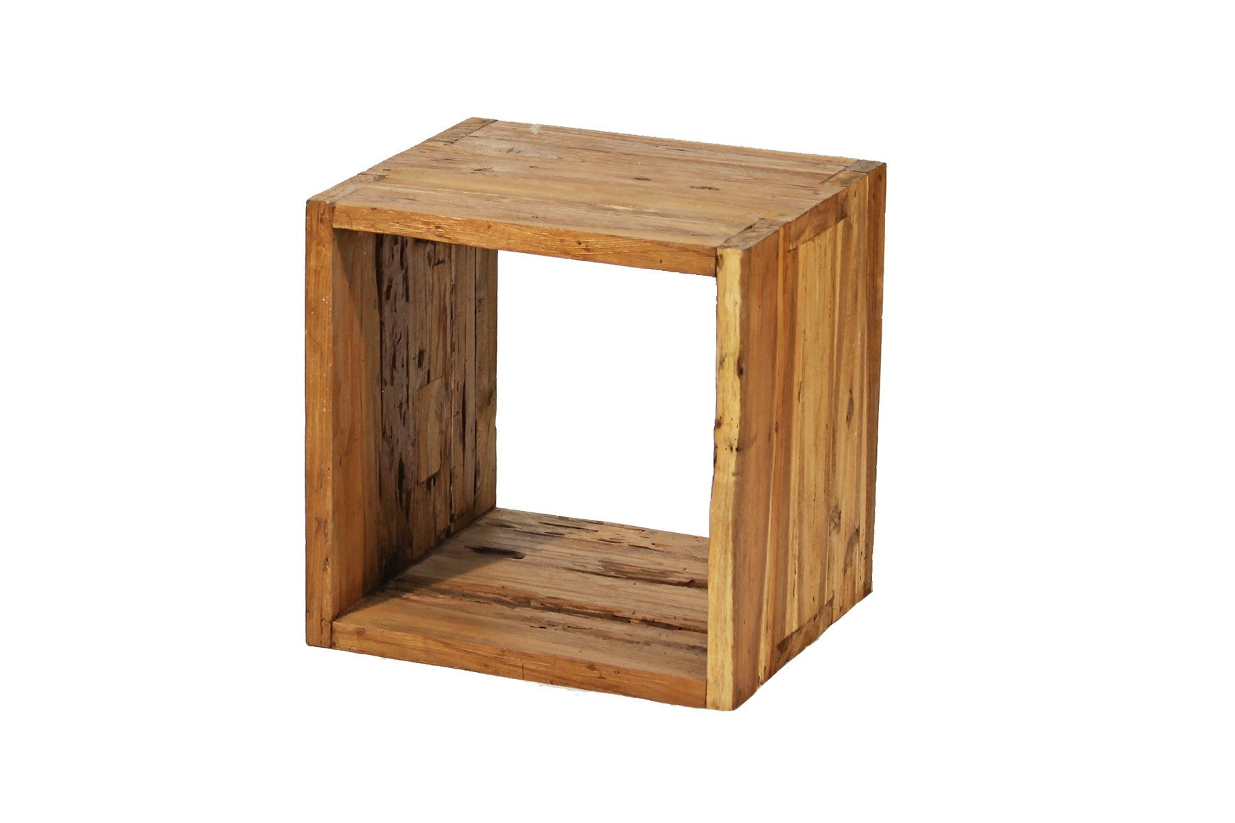 Teak 1 Hole Open Display Cabinet