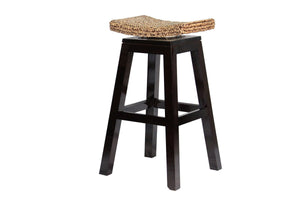 "Ibolili 30"" Swivel Top Barstool w / Woven Seat - Benton and Buckley"