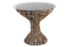 Driftwood Dining Table w / Glass - Benton and Buckley