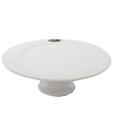 Equestrian Horseshoe Stoneware Cake Stand - Benton and Buckley