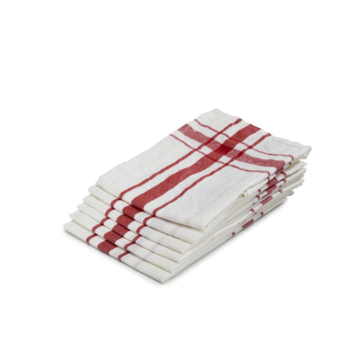 Camaret Tea-towel by Libeco | Red