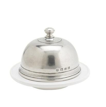 Match Pewter Convivio Butter Dome, Large - Benton and Buckley