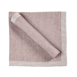 Frascati Linen Napkins by Libeco | Fig - Benton and Buckley