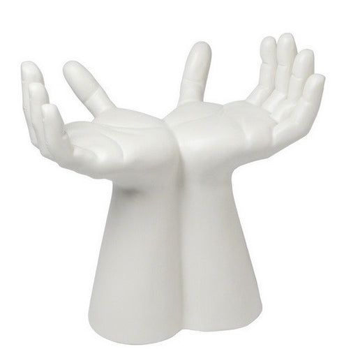 Hands Stool-Matte White - GDH | The decorators department Store