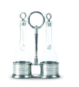 Oil and Vinegar in Pewter Caddy - Benton and Buckley
