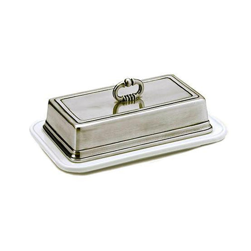 Match Pewter Convivio Single Butter Dish - Benton and Buckley