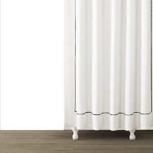 Single Line Embroidered Shower Curtain | Black - Benton and Buckley