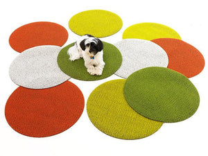 Shag Dot Rug | Orange
