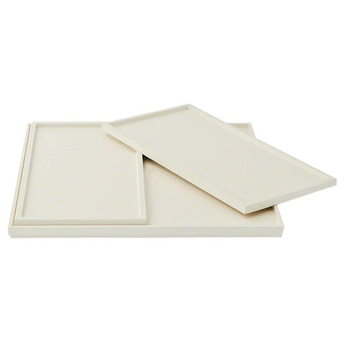 Barbara Barry Set of 3 Nesting Trays in Ivory Lacquer - Benton and Buckley
