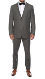 Alfa Charcoal Chalk 2pc Slim Fit Pinstripe Suit - FHYINC best men's suits, tuxedos, formal men's wear wholesale