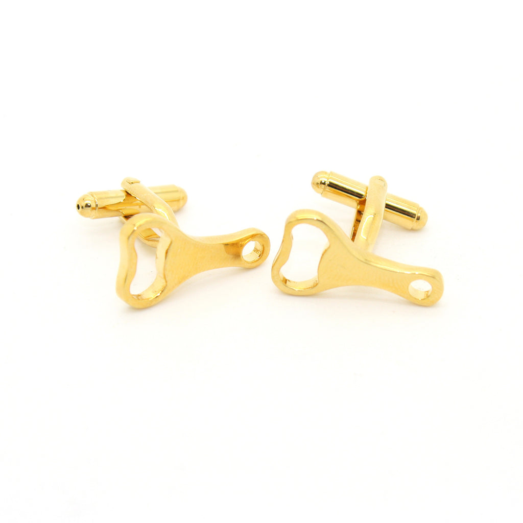 Goldtone Bottle Opener Cuff Links With Jewelry Box - FHYINC
