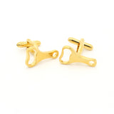 Goldtone Bottle Opener Cuff Links With Jewelry Box - FHYINC best men's suits, tuxedos, formal men's wear wholesale