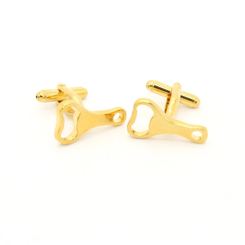 Goldtone Bottle Opener Cuff Links With Jewelry Box