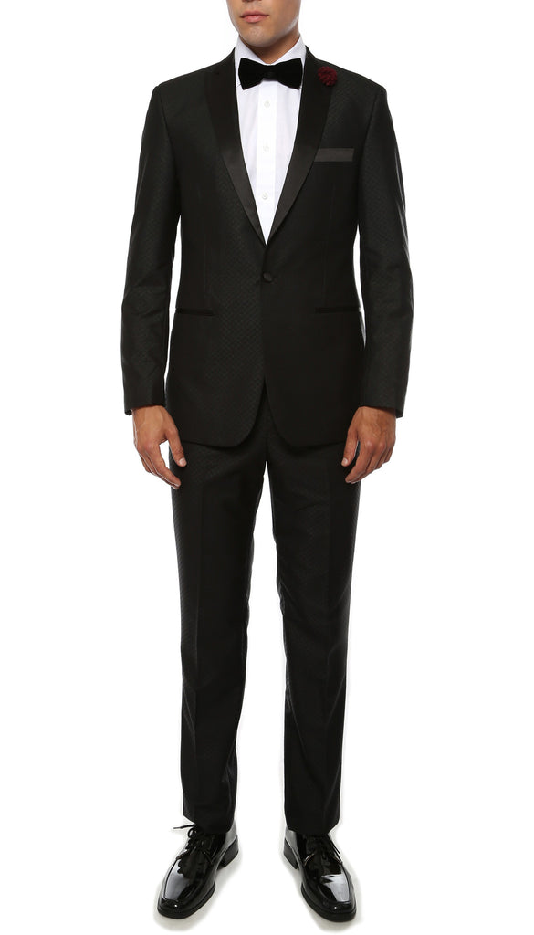 The Artemis Mens Geometric Slim Fit 2pc Tuxedo - FHYINC best men's suits, tuxedos, formal men's wear wholesale
