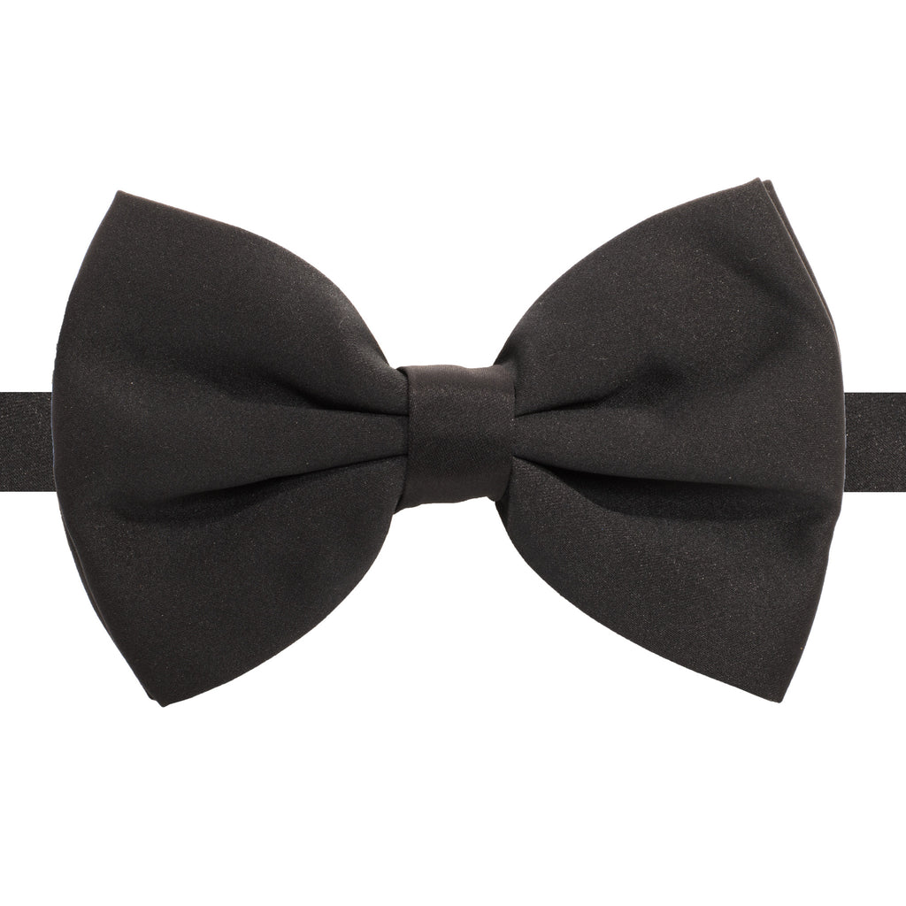Axis Black Adjustable Satin Bowtie - FHYINC best men