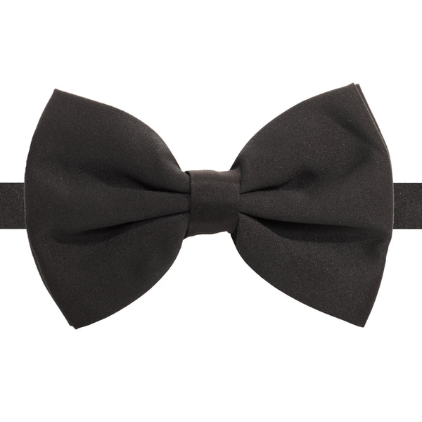 Axis Black Adjustable Satin Bowtie - FHYINC best men's suits, tuxedos, formal men's wear wholesale