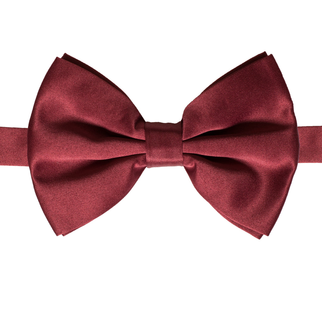 Axis Burgundy Adjustable Satin Bowtie - FHYINC best men