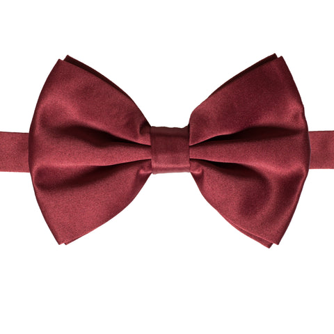 Axis Burgundy Adjustable Satin Bowtie
