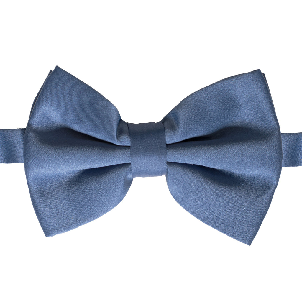 Axis Navy Blue Adjustable Satin Bowtie - FHYINC best men