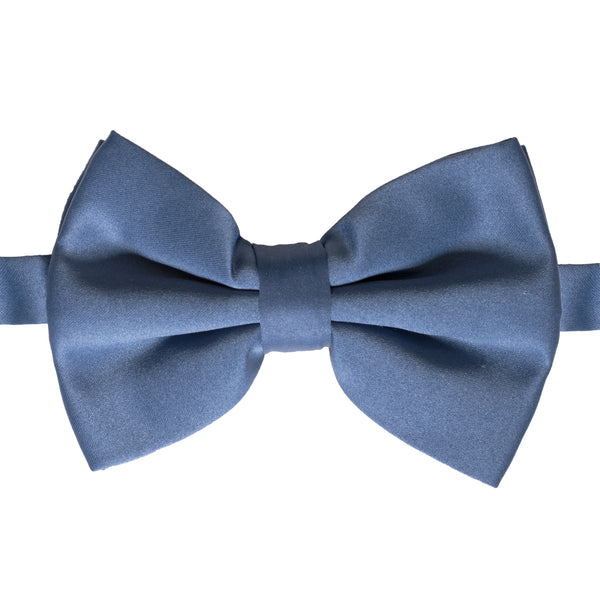 Axis Navy Blue Adjustable Satin Bowtie - FHYINC best men's suits, tuxedos, formal men's wear wholesale