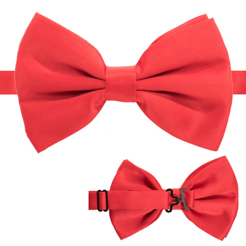 Axis Red Adjustable Satin Bowtie