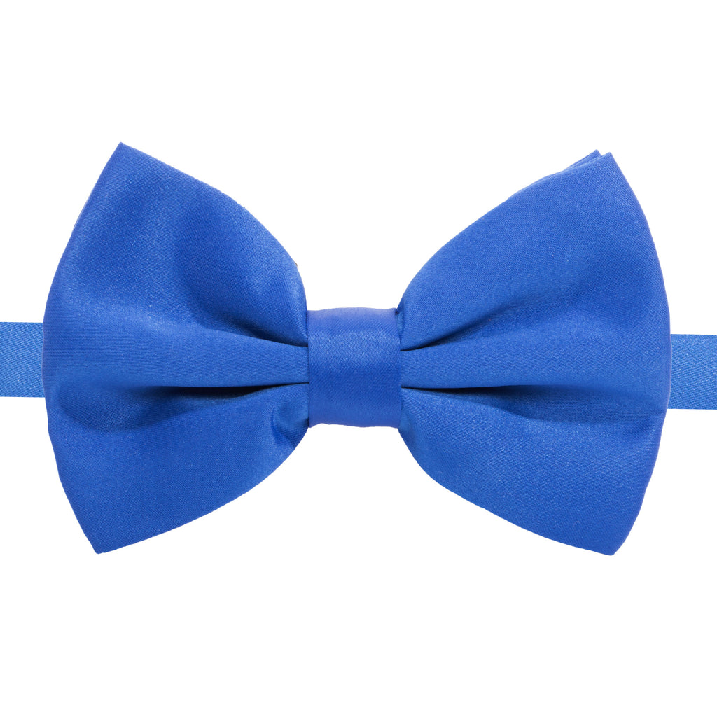 Axis Royal Blue Adjustable Satin Bowtie - FHYINC best men