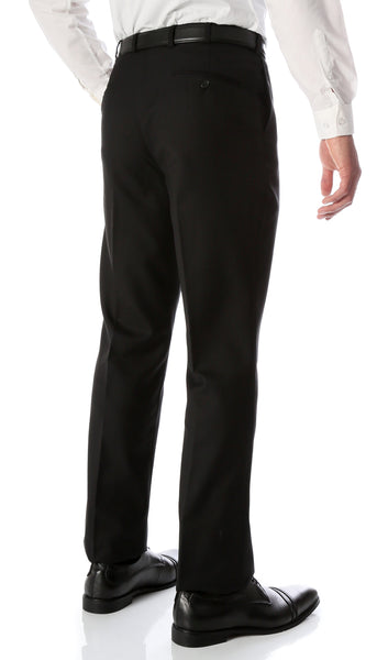 Ben Black Wool Blend Modern Fit Traveler Dress Pants - FHYINC best men's suits, tuxedos, formal men's wear wholesale
