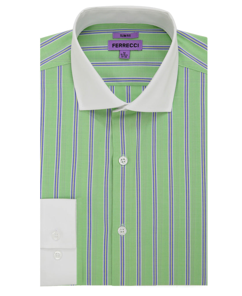The Bentley Slim Fit Cotton Dress Shirt - FHYINC best men