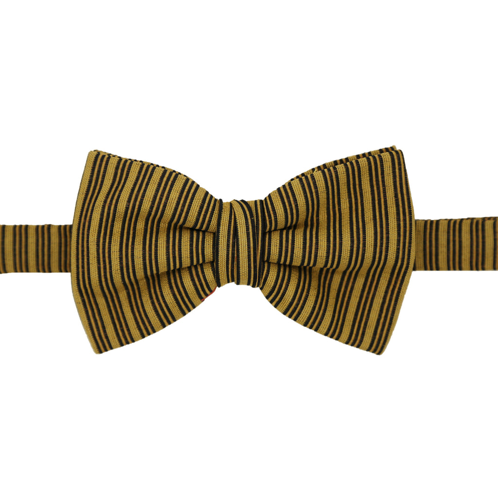 Cole Mustard Stripe Bowtie - FHYINC best men