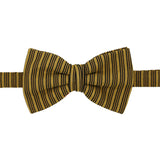 Cole Mustard Stripe Bowtie - FHYINC best men's suits, tuxedos, formal men's wear wholesale