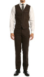 Bradford Cognac Slim Fit 3pc Tweed Suit - FHYINC