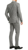 Bradford Grey Slim Fit 3pc Tweed Suit - FHYINC best men's suits, tuxedos, formal men's wear wholesale