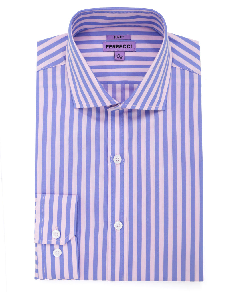 The Bruno Slim Fit Cotton Dress Shirt - FHYINC best men