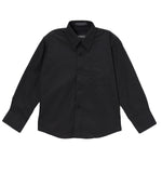 Ferrecci Boys Cotton Blend Black Dress Shirt - FHYINC best men's suits, tuxedos, formal men's wear wholesale