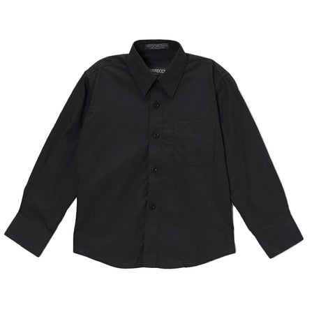 Ferrecci Boys Cotton Blend Black Dress Shirt
