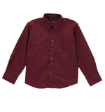 Ferrecci Boys Cotton Blend Burgundy Dress Shirt - FHYINC best men's suits, tuxedos, formal men's wear wholesale