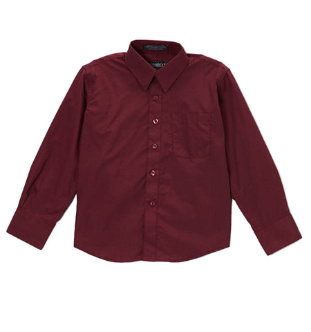 Ferrecci Boys Cotton Blend Burgundy Dress Shirt