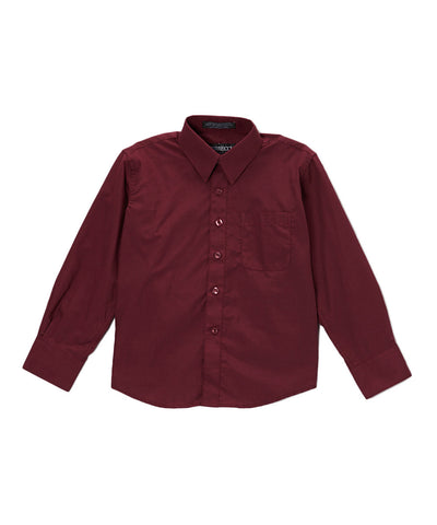 Boys Premium Cotton Blend Dark Colored Dress Shirts