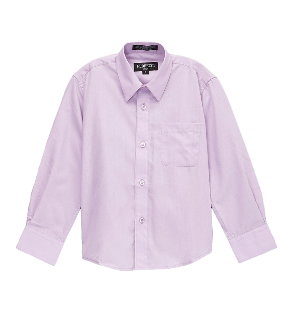 Ferrecci Boys Cotton Blend Lilac Dress Shirt - FHYINC best men